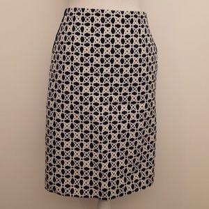 Limited Geometric Print Pencil Skirt EUC